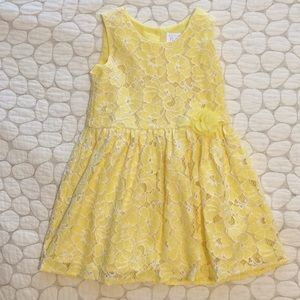 Children's Place 4T yellow lace dress